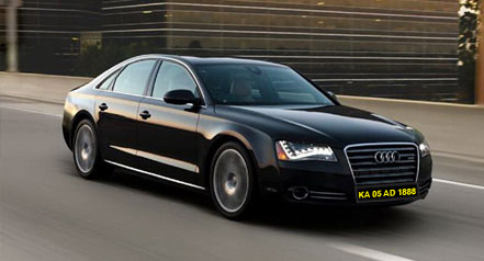 Self drive car hire audi a8 bangalore